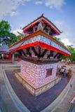 POKHARA NEPAL, WRZESIEŃ, - 04, 2017: Tal Barahi świątynia, lokalizować przy centrum Phewa jezioro, jest znacząco Fotografia Stock