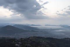 Pokhara prima del tramonto Fotografie Stock Libere da Diritti