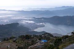 Pokhara prima del tramonto Immagini Stock