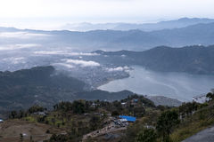 Pokhara vóór zonsondergang Stock Afbeeldingen