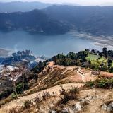 Pokhara valley view Stock Images