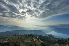 Pokhara view from Sarangkot, Nepal, Asia Stock Photography