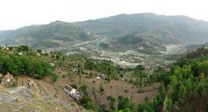 Pokhara, vista panorâmica do pagode da paz Imagem de Stock Royalty Free