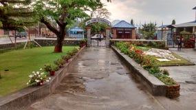 Pokharaluchthaven, Nepal Stock Fotografie