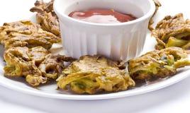 Pokoda délicieux d'oignon Images stock