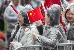 Pokojowa demonstracja Chińscy aktywiści w Waszyngton Zdjęcie Royalty Free
