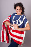 Pokojowa Patriotyczna Kobieta Obrazy Royalty Free