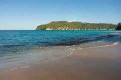 Pokojowa plaża w karaibskim Zdjęcia Royalty Free