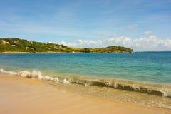 Pokojowa plaża w karaibskim Obraz Stock
