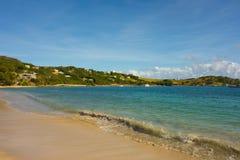 Pokojowa plaża w karaibskim Obrazy Royalty Free