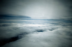 Pokojowe biel chmury Zdjęcia Royalty Free
