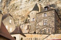 Pokojowe ulicy carennac wioska przy France zdjęcia stock