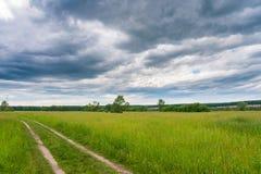 Pokojowego lata wiejski krajobraz Zdjęcia Stock