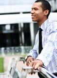 Pokojowy amerykanina afrykańskiego pochodzenia biznesmen zdjęcie stock