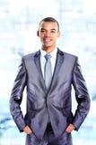 Pokojowy amerykanina afrykańskiego pochodzenia biznesmen fotografia royalty free