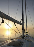pokojowy denny jacht Zdjęcie Royalty Free