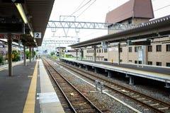 Pokojowy dworzec w Kyoto dokąd everyone use autobus, Japonia Fotografia Royalty Free
