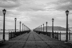 Pokojowy i piękny nabrzeże w San Fransisco, Kalifornia zdjęcia stock
