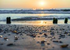 Pokojowy i relaksujący miejsce morzem z sensem dla obraz royalty free