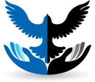 Pokojowy logo royalty ilustracja