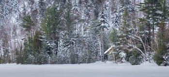 Pokojowy miejsce w śniegu obrazy royalty free