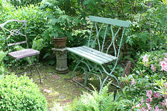 Pokojowy Ogrodowy miejsca siedzące zdjęcia royalty free