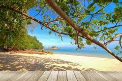Pokojowy plażowy tło zdjęcia stock