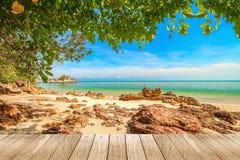 Pokojowy plażowy tło zdjęcia royalty free