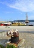 Pokojowy portowy quay Obrazy Royalty Free