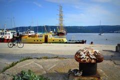 Pokojowy portowy widok Obraz Royalty Free