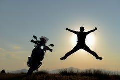 Pokojowy ranek na motocykl wycieczce obrazy stock
