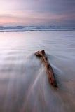 Pokojowy seascape przy zmierzchem w Kuala Penyu, Sabah, Wschodni Malezja zdjęcie royalty free