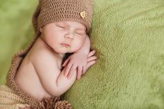 Pokojowy sen nowonarodzony dziecko obrazy royalty free