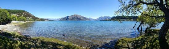 Pokojowy widok Wanaka jezioro w Nowa Zelandia fotografia royalty free