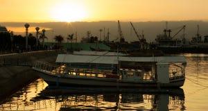Pokojowy wieczór przy zatoką Obraz Stock