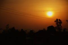 Pokojowy wschód słońca! Obrazy Royalty Free