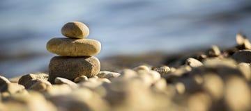 Pokoju i równowagi sztandar zdjęcia stock