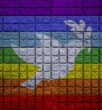 Pokoju kolor na ścianie z ptakiem pokoju symbol fotografia royalty free