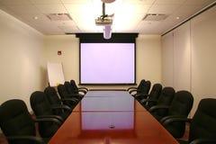 pokoju konferencji ekranu Fotografia Stock