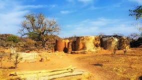 Pokoju mieszkanie w Talensi wiosce, Ghana obraz stock