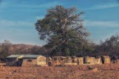 Pokoju mieszkanie w Talensi wiosce, Ghana fotografia royalty free