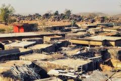 Pokoju mieszkanie w Talensi wiosce, Ghana fotografia stock