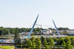 pokoju most, Londonderry, P??nocny - Ireland obraz stock