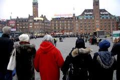 POKOJU protest PRZY KOPENHAGA urzędem miasta Fotografia Stock
