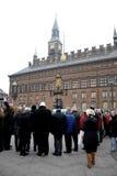 POKOJU protest PRZY KOPENHAGA urzędem miasta Obrazy Stock