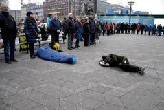 POKOJU protest PRZY KOPENHAGA urzędem miasta Zdjęcie Stock