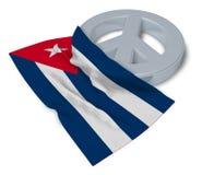Pokoju symbol i flaga Cuba Fotografia Stock