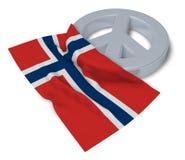 Pokoju symbol i flaga noway Obrazy Royalty Free