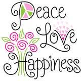 Pokoju szczęście i miłość ilustracja wektor
