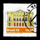 Pokoju Theatre, Belem, Brazylijski teatru seria około 1978, (Para) Zdjęcie Stock